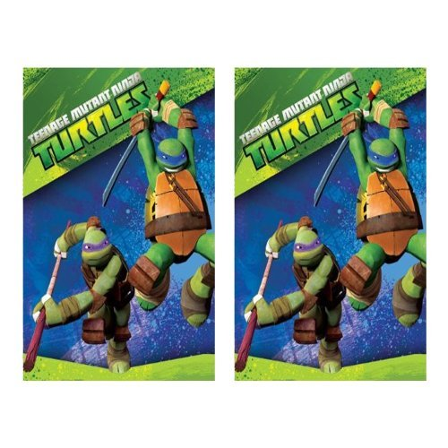 TMNT Teenage Mutant Ninja Turtles Party Paper Tablecovers - 2 Pieces - 1