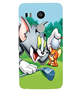 ColourCraft Funny Cat and Rat Design Back Case Cover for LG GOOGLE NEXUS 5X