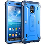 Supcase Unicorn Beetle PRO Series Active Rugged Hybrid Case with Built-in Screen Protector for Samsung Galaxy S5 (Blue / Blue)