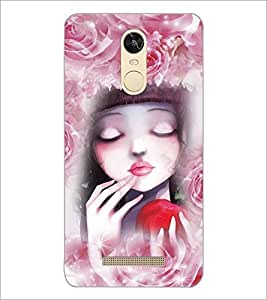PrintDhaba Cute Girl D-3434 Back Case Cover for XIAOMI REDMI NOTE 3 (Multi-Coloured)