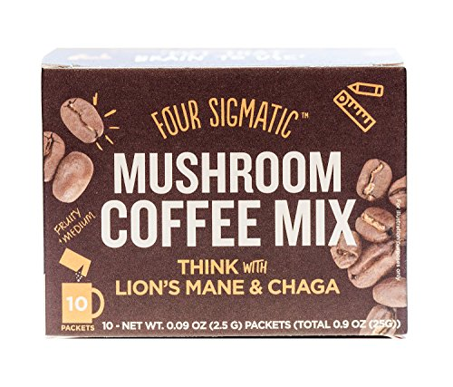 Four Sigmatic Mushroom Coffee with Lion's Mane & Chaga (10 Count) - Paleo, Vegan - Concentration & Focus