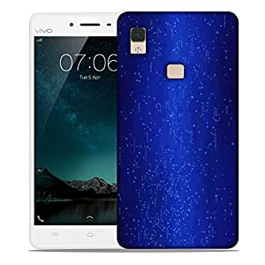 Snoogg Blue Codes Designer Protective Phone Back Case Cover For Vivo V3 Max
