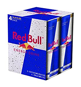 Red Bull Energy Drink, 4 Count (Pack of 6)