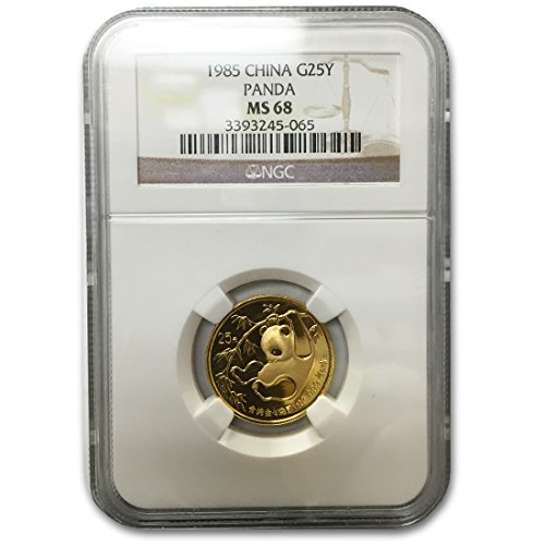1985 China Panda 1/4 Ounce Gold MS68 NGC