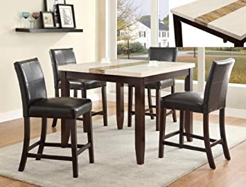 5PC LARISSA COUNTER HEIGHT DINING SET