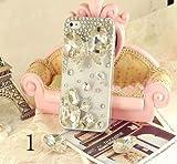 ◆3Dデコ盛り♪♪キラキラ♪ラインストーンケース/iphone5/アイフォン5/専用ケースカバー/Ribbon