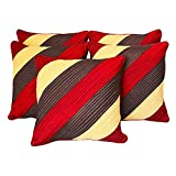 Agley Patch Quited Red Comb Cushion Cover 30x30 Cms (Set Of 5)