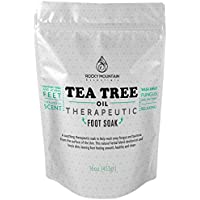 Tea Tree Oil Foot Soak, HUGE 16 Oz. Helps Relieve And Prevent Athletes Foot, Nail Fungus And Nail Infections....