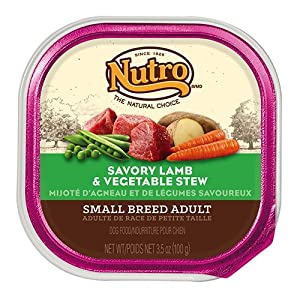 The Nutro Company Small Breed Adult Savory Lamb and Vegetable Recipe for Dogs, 3.5-Ounce