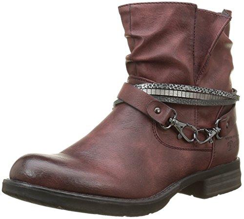 tom-tailor-1695602-bottes-motardes-femmes-rouge-bordo-38-eu