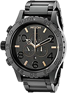 buy Nixon Men'S A083957 51-30 Black Stainless Steel Chrono Watch