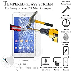 Phonokart Tempered Glass HD for Sony Xperia Z3 Compact Z 3 Mini Amazing H+ 2.5 Arc 0.15mm 9H