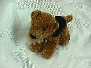 "Airedale Stuffed Animal Plush Dog 9"" L"