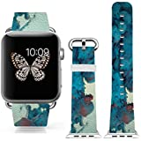 3C-LIFE Iwatch Cute Lovely Band For Apple Watch Sport 38mm Space Aluminum Case With White Sport Band St.patrick... - B01BTR92YM