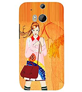 Kingcase Printed Back Case Cover For htc One M8 - Multicolor