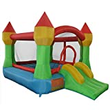 FDS Kids Inflatable Bouncy Castle House Bouncer Jumper W/Constant Air Flow System Climb Slide