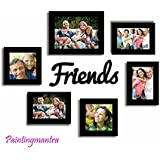 Delight Your Best Friends - Set Of 6 Individual Wall Photo Frames With Friends MDF Plaque