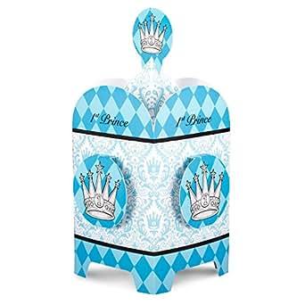Amazon.com: Elegant Prince Damask 1st Birthday Centerpiece: Toys