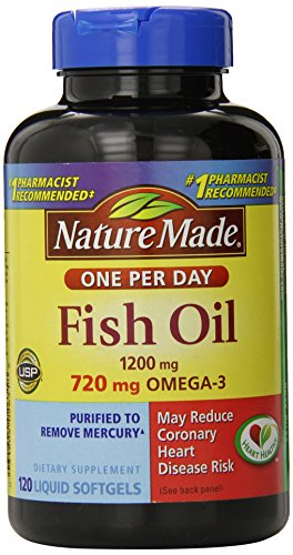 Nature made one a day fish oil 1200mg 120 count for How much fish oil a day