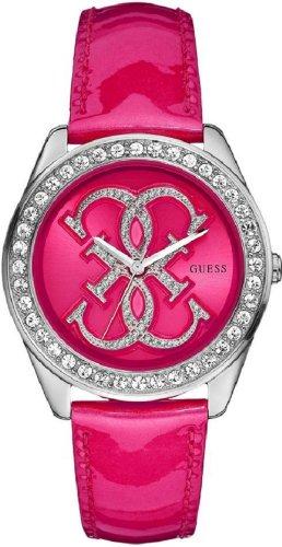 Guess W85121L1 - Reloj analógico de cuarzo para mujer con correa de piel, color rosa