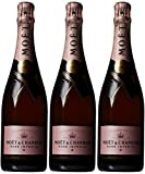 Moet & Chandon Rose Imperial Non Vintage Champagne 75 cl (Case of 3)