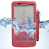 LG G3 Case, Sophia Shop LG G3 Full-body Protective Waterproof Case, Slim Fitted [IP-68 6.6 ft Underwater Waterproof] [Shock Proof] [Dust Proof] [Dirt Proof] [Snow Proof] Hard Shell Triple Layer with Built-in Kick-Stand Armor Cover Case for LG G3 D850 D85 D855 VS985 LS990 Carrier Compatibility AT&T, Verizon, T-Mobile, Sprint, And All International Carriers with Retail Packing (Pink)
