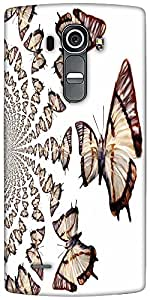 Snoogg Kaleidoscopic Butterflies Designer Protective Back Case Cover For LG G4