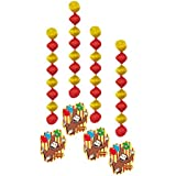 Unique 28-Inch Hanging Curious George Decorations, 4ct