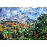 (13x19) Paul Cezanne Mount St Victoire Art Print Poster