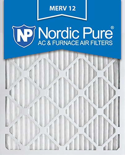 Nordic Pure 14x20x1M12-6 MERV 12 Pleated Air Condition Furnace Filter, Box of 6 (Furnace Filter 20x14 compare prices)