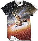 (ピゾフ)Pizoff メンズ Tシャツ 丸首半袖 動物系 猫柄 可愛い 原宿系 創意デザイン オリジナル 可愛い ストリート 大人気 ファション V系 快適 カジュアル 男女兼用 トップス 夏物 Y1648-55-M