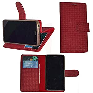 R&A Pu Leather Wallet Flip Case Cover With Card & ID Slots & Magnetic Closure For Samsung Galaxy Mega 6.3 I9200