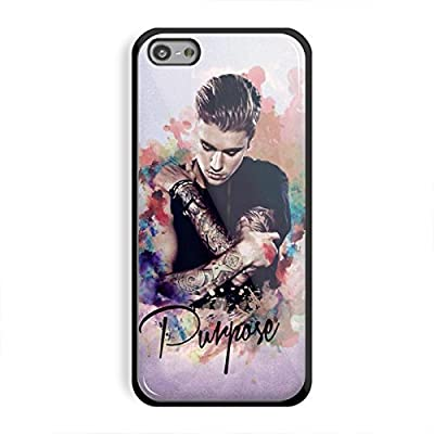 justin bieber purpose in watercolor for iPhone 5/5s Black case