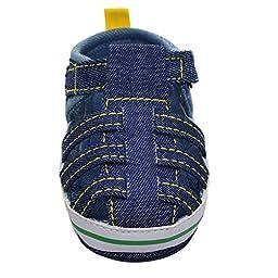 Weixinbuy Infant Baby Boy Soft Soft Non-slip Velcro Walk Sandals (6-12 months, Dark Blue)