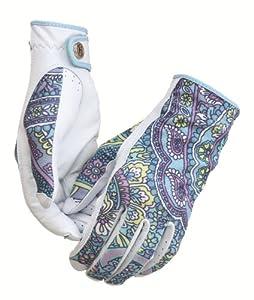 HJ Glove Ladies Blue Paisley Solaire-X UV Golf Glove by HJ Glove