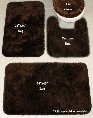 Royale Chocolate 21x34 Inch Bath Rug