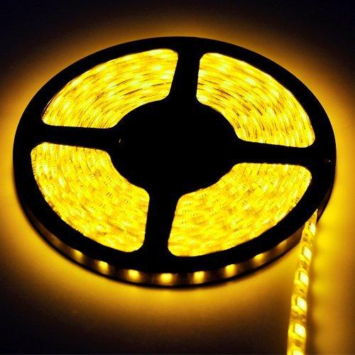New 5 Meter / 16.4 Feet 12V 300Led 5050 Smd Yellow Waterproof Flexible Lamp Light Strip Car