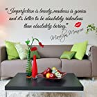 MZY LLC (TM) Impersonation Is Beauty-marilyn Monroe with Monroe lip Quote sayings vinyl Wall Sticker Decals Home Decor