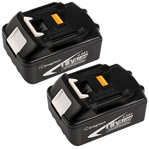 Enegitech 4.0Ah Replacement for Makita 18V Battery LXT BL1840 BL1850 BL1830 LXT-400 194204-5 2 Pack ( Note Fit for DC18RA Charger) (Grinder Plans compare prices)