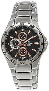CASIO Edifice EF-335D-4A1VEF - Reloj de caballero de cuarzo, correa de acero inoxidable color plata