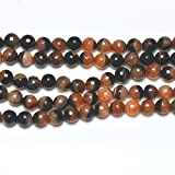 16 Inch Strand Agate With Quartz Druzy Faceted Rounds 10mm (38+ Beads) GS18734-1