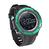 Pyle PSWWM82GN Digital Multifunction Sports Watch with Altimeter/Barometer/Chronograph/Compass and Weather Forecast (Green) (Color: Green)