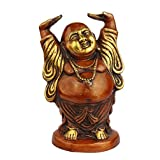 Laughning Buddha Idol - Standing Pose -Red Color - FengShui - Home Décor - 11""