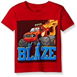 Blaze and the Monster Machines Toddler Boys' Short Sleeve Tee Shirts, Red, 4T