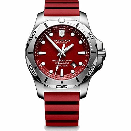 [ビクトリノックス]VICTORINOX 腕時計 メンズ I.N.O.X. プロフェッショナルダイバー PROFESSIONAL DIVER 241736 レッド ラバーベルト メンズ [正規輸入品] …