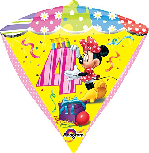 "Anagram International Minnie Age 4 Diamondz Balloon Pack, 17"", Multicolor"