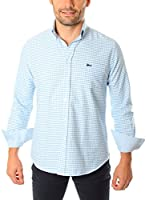 VICKERS Camisa Hombre Harvard (Azul Claro / Blanco)