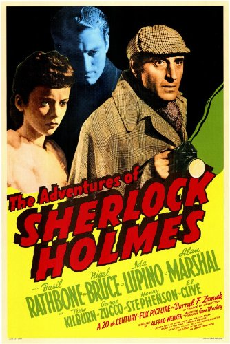 The Adventures of Sherlock Holmes Vintage Film Poster