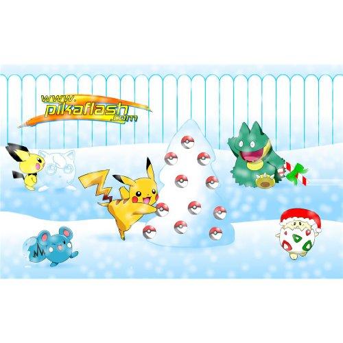 Pikachu-Poster-On-Silk-56cm-x-35cm-22inch-x-14inch-Cartel-de-Seda-67320C