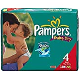 PAMPERS SIZE 4 MAXI-28 NAPPIES BABY DRY - 28 PCS